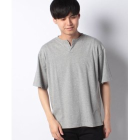 (koe/コエ)ヘンリーネックTシャツ/メンズ 杢グレー