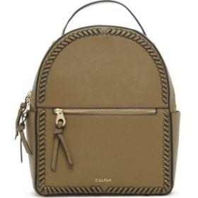 カルパック レディース バックパック・リュックサック バッグ CALPAK Kaya Faux Leather Round Backpack Olive