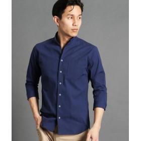 (NICOLE CLUB FOR MEN/ニコルクラブフォーメン)イタリアンカラー7分袖シャツ/メンズ 60ブルー
