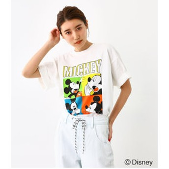 【Rodeo Crowns/RODEO CROWNS WIDE BOWL:トップス】ユーズドライク Tシャツ/MICKEY