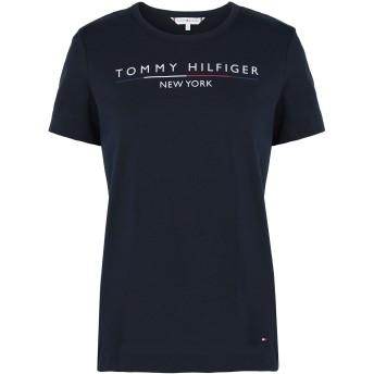 《9/20まで! 限定セール開催中》TOMMY HILFIGER レディース T シャツ ダークブルー XS オーガニックコットン 100% CHRISTA C-NK TEE SS