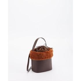 Basement Ladys エコファーバケツ型バッグ/T○9999175215918 ブラウン カバン・バッグ