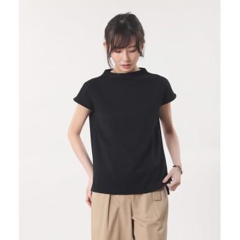 【PLST】カルゼジャージーモックネックTシャツ