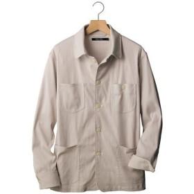 【メンズ】 大人顔ストライプ素材の軽量ジャケット。うれしいストレッチ仕上げ彡 - セシール ■カラー:ベージュ系 ■サイズ:LL,M,5L,L,3L