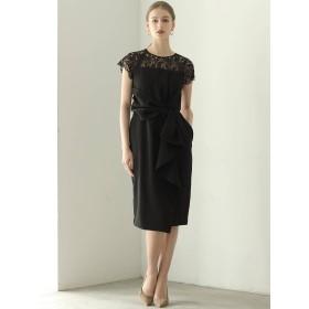 [LAGUNAMOON]LADYラッフルリボンタイトドレス