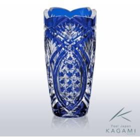 ( カガミクリスタル / ガラス ) 江戸切子 花瓶 ( F496-2702-CCB )