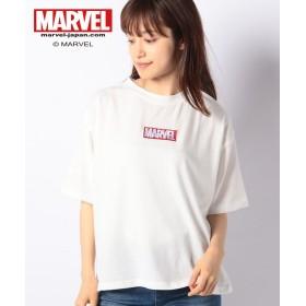 【50%OFF】 デイジーメリー MARVELゆるTシャツ レディース オフホワイト M 【DAISY MERRY】 【セール開催中】