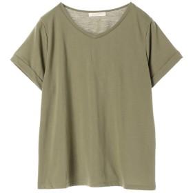 グリーンパークス Green Parks VネックTシャツ (Khaki)