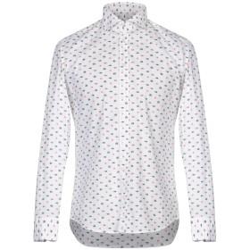 《期間限定セール開催中!》BASTONCINO メンズ シャツ ホワイト 40 コットン 97% / ポリウレタン 3%