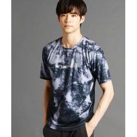 ニコルクラブフォーメン マーブルプリントTシャツ メンズ 64サックス 46(M) 【NICOLE CLUB FOR MEN】