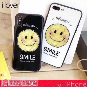 アイフォン8 ケース iPhoneX iPhone8 iPhone7 ケース アイフォンX スマホケース スマイル ガラス おしゃれ アイフォン8ケース iPhoneケース