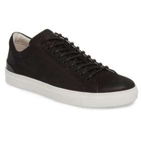 ブラックストーン メンズ スニーカー シューズ Blackstone PM56 Low Top Sneaker (Men) Black Leather