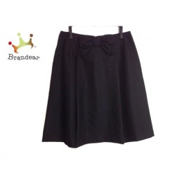 エムズグレイシー M'S GRACY スカート サイズ36 S レディース 美品 黒 リボン   スペシャル特価 20190901