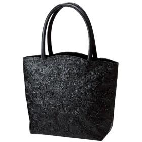 ベルーナ フォーマル対応!花柄型押し手提げバッグ ブラック/黒 1 レディースレディースファッション アパレル おすすめ 人気 通販 ランキング 安い 大きいサイズ バッグ バック 鞄 コーデ