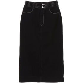 woadblue woadblue(ウォードブルー) ALTHEA/タイトデニムスカート ミモレ丈・ひざ下丈スカート,BLACK