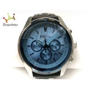 フォッシル FOSSIL 腕時計 美品 CH-2564 メンズ クロノグラフ ライトブルー 新着 20190612