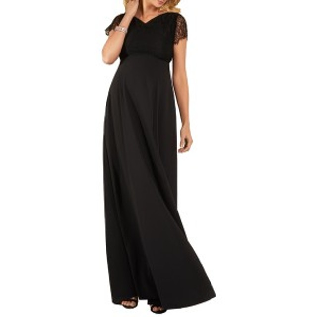 ティファニーローズ レディース ワンピース トップス Tiffany Rose Eleanor Maternity Gown Black