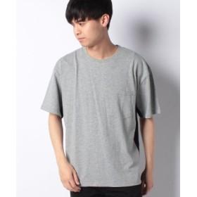 (koe/コエ)脇切り替え配色Tシャツ/メンズ 杢グレー