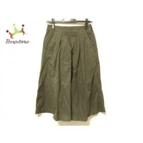 ブロカント Brocante ロングスカート サイズ2 M レディース カーキ   スペシャル特価 20190910