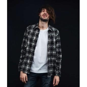 5351プール・オム フロッキーチェックシャツ メンズ ブラック系その他1 44 【5351POUR LES HOMMES】