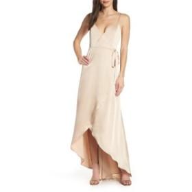 ウミーユアムーム レディース ワンピース トップス Show Me Your Mumu Mariah Wrap Evening Dress Champagne Satin