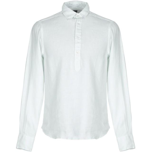 《セール開催中》ASPESI メンズ シャツ スカイブルー S 麻 100%