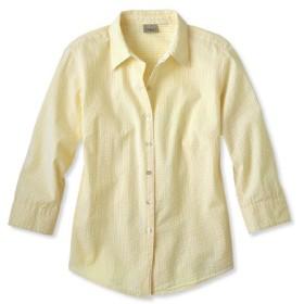 エッセンシャル・シアサッカー・シャツ、7分丈袖/Essential Seersucker Shirt Three-Quarter Sleeve