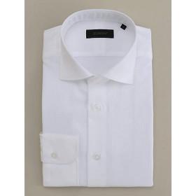 <ダーバン/DURBAN> シャドーストライプ柄 クレリック ドレスシャツ(1609221202) ホワイト 【三越・伊勢丹/公式】