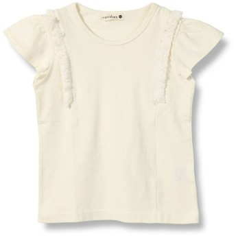 【20%OFF】 ブランシェス フリンジ半袖Tシャツ(90~150cm) レディース アイボリー 90cm 【branshes】 【セール開催中】