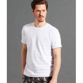 ムッシュニコル リンクスジャカードTシャツ メンズ 09ホワイト 48(L) 【MONSIEUR NICOLE】