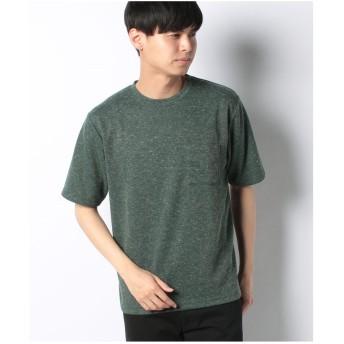 ikka 麻混サカリバクルーネックTシャツ(グリーン)【返品不可商品】