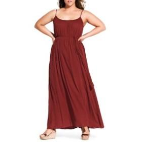 シティーシック レディース ワンピース トップス Chic City Paradise Maxi Dress (Plus Size) Ginger