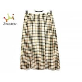 ダックス DAKS ロングスカート サイズ66-92 レディース ライトブラウン×マルチ チェック柄   スペシャル特価 20190914