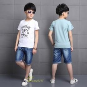 セットアップ 上下セット 女の子 ハーフパンツ ショットパンツ 韓国子供服 半袖 tシャツ ジュニア キッズ 子供服 カットソー