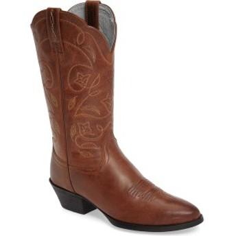 アリアト レディース ブーツ&レインブーツ シューズ Ariat Heritage Western R-Toe Boot (Women) Russet Rebel Leather