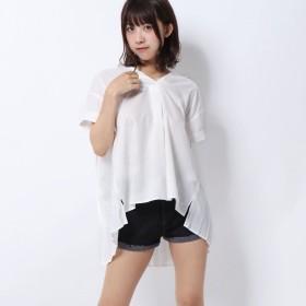 セシルマクビー CECIL McBEE バックプリーツシャツ (オフホワイト)