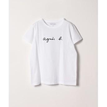 アニエスベー S137 TS ロゴTシャツ レディース ホワイト 3 【agnes b.】