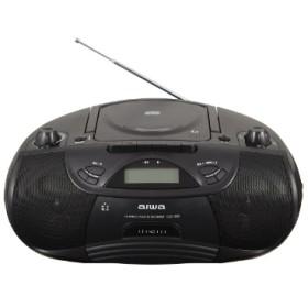 CSD-B50B ラジカセ aiwa ブラック [Bluetooth対応 /ワイドFM対応 /CDラジカセ]