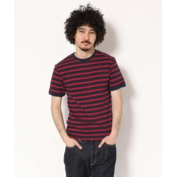 (AVIREX/アヴィレックス)AVIREX/アヴィレックス/デイリー テレコ ボーダーTシャツ/DAILY BORDER T-SHIRT/メンズ RED