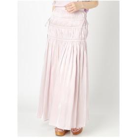 MERCURYDUO シャーリングマキシスカート ピンク