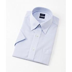 【SALE(三越)】<シャツファクトリー/SHIRT FACTORY> 半袖ストライプワイシャツ(CFN541-450) 450サックス 【三越・伊勢丹/公式】