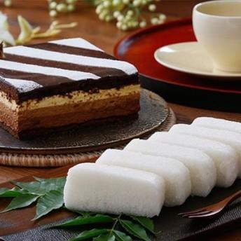 チョコケーキ「サンクショコラ」&鹿児島銘菓かるかん