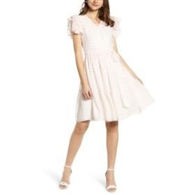 レイチェル・パーセル レディース ワンピース トップス Rachel Parcell Tiered Ruffle Sleeve Dress (Nordstrom Exclusive) White Painte