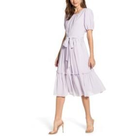 レイチェル・パーセル レディース ワンピース トップス Rachel Parcell Gingham Puff Sleeve Dress (Nordstrom Exclusive) Purple Hush