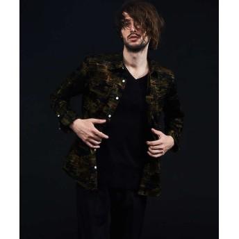 5351プール・オム フロッキーチェックシャツ メンズ カーキ 50 【5351POUR LES HOMMES】