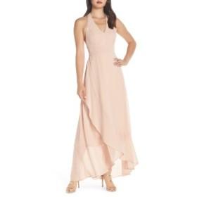 ルルズ レディース ワンピース トップス Lulus Wrap of Luxury Convertible Gown Blush