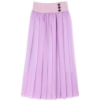 ROSE BUD / ローズ バッド シアーチェックカラースカート