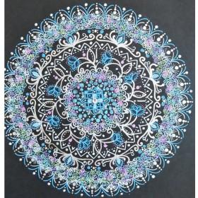 可愛い小花の点描曼陀羅