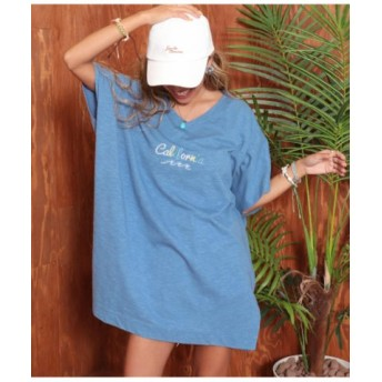 (ANAP/アナップ)California刺繍Tシャツ/レディース ブルー