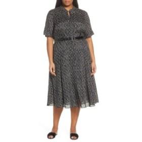ラファイエットワンフォーエイト レディース ワンピース トップス Lafayette 148 New York Augustina Piazza Print Dress (Plus Size) Bl